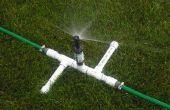 Een drie hoofd Sprinkler voor oneven gazons