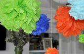 DIY papieren zakdoekje Pom Poms