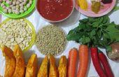 Vleesloos Flavorful en kruidige pompoen Stew