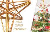 Faux koperen Kerstboom Topper