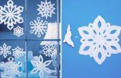 Hoe maak je een sneeuwvlok met papier