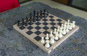 Gegoten Concrete schaakbord