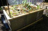 Een verhoogd Bed van de tuin maken van betonnen straatstenen