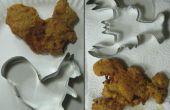 Aangepaste vormige kipnuggets