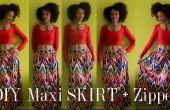 Hoe te DIY een kleurrijke Maxi rok met een rits