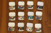 Lasercut Mini Mint Tin aquarel palet