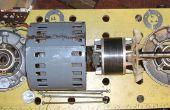 Ontmanteling van een wisselstroommotor Brook Crompton (uit een draaibank Myford)