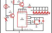 Kerstverlichting met behulp van LEDs Circuit
