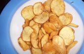 Gezonde Snack. Zelfgemaakte aardappel Chips