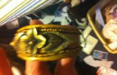 Gouden Clay manchet Bangle armband met Vintage Pin Focal