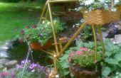 Fiets frame gerecycled als plant hanger