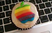 Boterachtige appelmoes Cupcakes w / bruine suiker-nootmuskaat-roomkaas Frosting