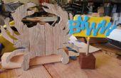 Rustieke krab - teruggewonnen pallet hout