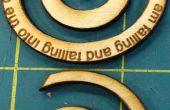 Make A houten Spiraal hanger