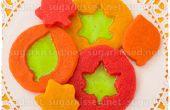 Gebrandschilderd glas blad Cookies
