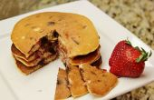 Aardbei chocolade Chip pannenkoekjes (glutenvrij)