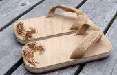 Moderne Geta - houten sandalen