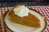 Bourbon Sour Cream pompoen Pie