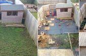 Voor en na kleine tuin