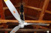 Vliegtuig propeller plafondventilator