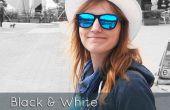 Zwart en wit met gedeeltelijke kleureffect