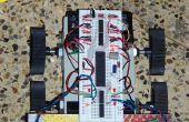 Goedkope 4WD object vermijden Robot met behulp van vier IR naderingssensoren...