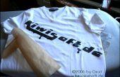 Instant t-shirt design met laser printer