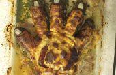 Verbrande Zombie Hand Meatloaf!