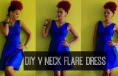 Hoe te DIY een V-hals Flare jurk | DIY kleding