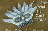 Alle eetbare bruids haar kam Cookie - met 2 verschillende soorten eetbare veren