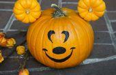 Daarvoor een Mickey Mouse-Pompoen Halloween