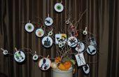 Halloween Tree en kaarsen