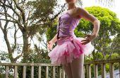 Dans van de Sugar Plum Fairy van hut in het bos