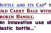 Reparatie tas handvat met behulp van een plastic fles en de cap. Een creatief gebruik van gebruikte plastic fles