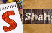 Hoe te maken en af te ronden gepersonaliseerde naambordjes met Bijenkorf papier filigraan
