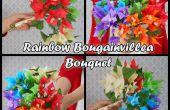 PAPIEREN ZAKDOEKJE bloemen: RAINBOW BOUGAINVILLEA BOEKET