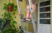Geïmproviseerde ladder klompen (zuecos para escalera improvisados)