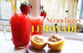 Hoe maak je aardbeien limonade