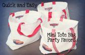 Hoe om te naaien snel en gemakkelijk partij gunst Mini Tote tassen