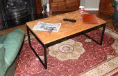 Staal & Pallet houten salontafel