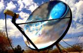 Geschilderd satellietschotel