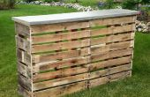 Pallet Patio Bar met Concrete Top