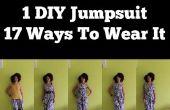 Hoe maak een DIY Jumpsuit, dragen het 17 manieren | DIY kleding voor reizen