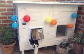 Zonne-aangedreven kat huis