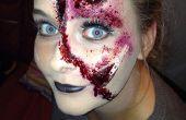 Halloween verscheurd gezicht