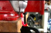DIY goedkoopste plastic fles extruder, recycle HDPE melk kannen in de gloeidraad
