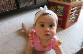 Voorzien van Baby hoofdband met Bowtie (of Baby Bandana?!)-geen Naai!