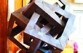 Origami sculptuur puzzel: 4 kruisende kubussen