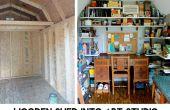 Houten schuur in Epic Art Studio