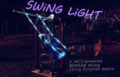 Schommel licht: een fiets-aangedreven gloeiende swing